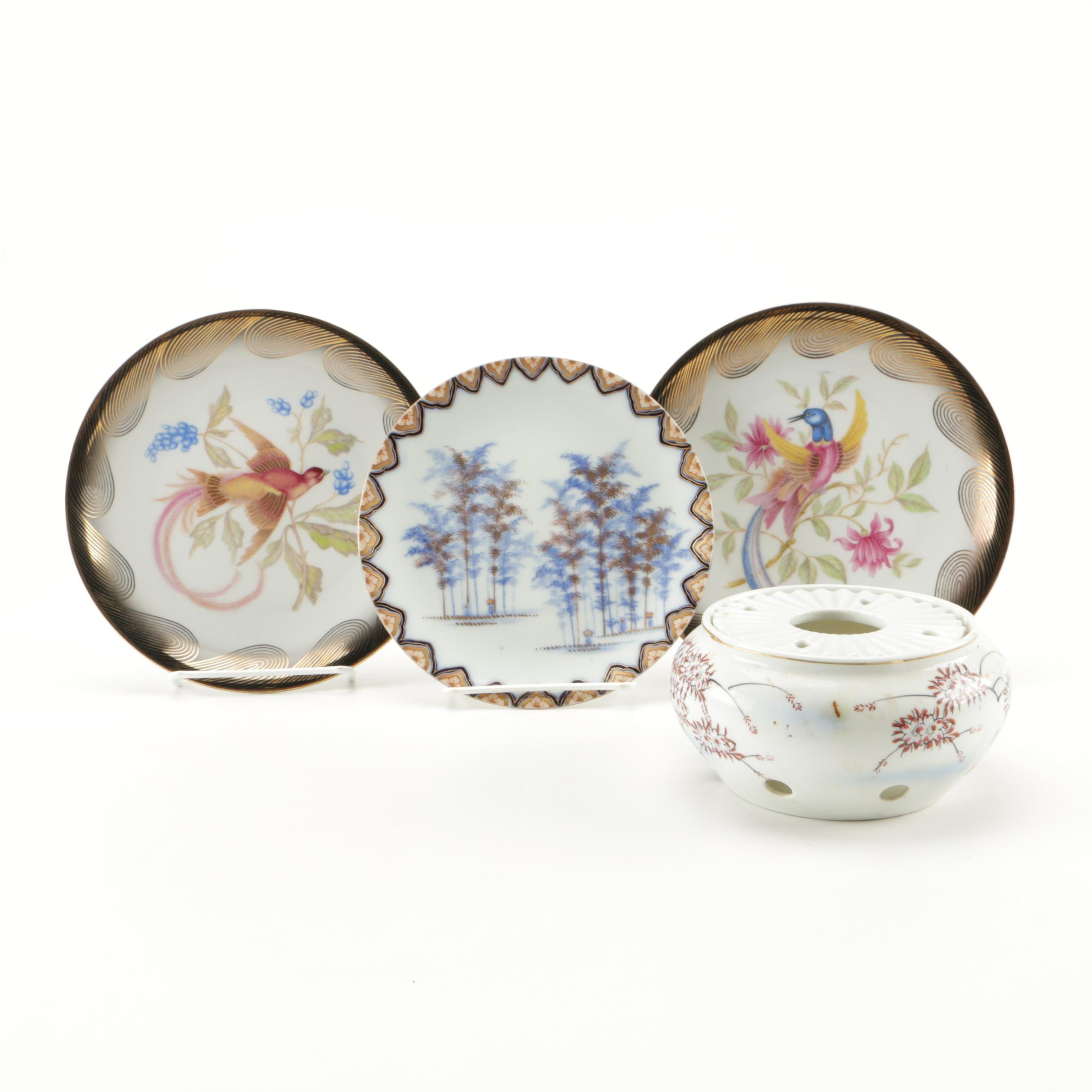 Collection of Four Porcelain Decorative Objects