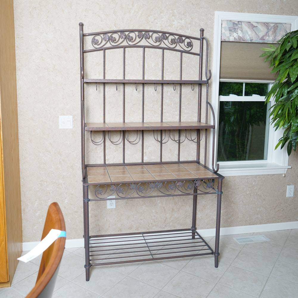 Iron and Tile Baker's Rack
