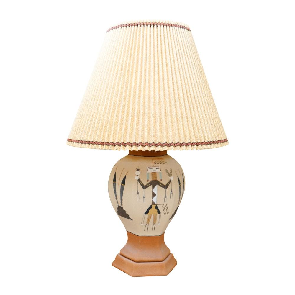 Southwestern Style Earthenware Lamp