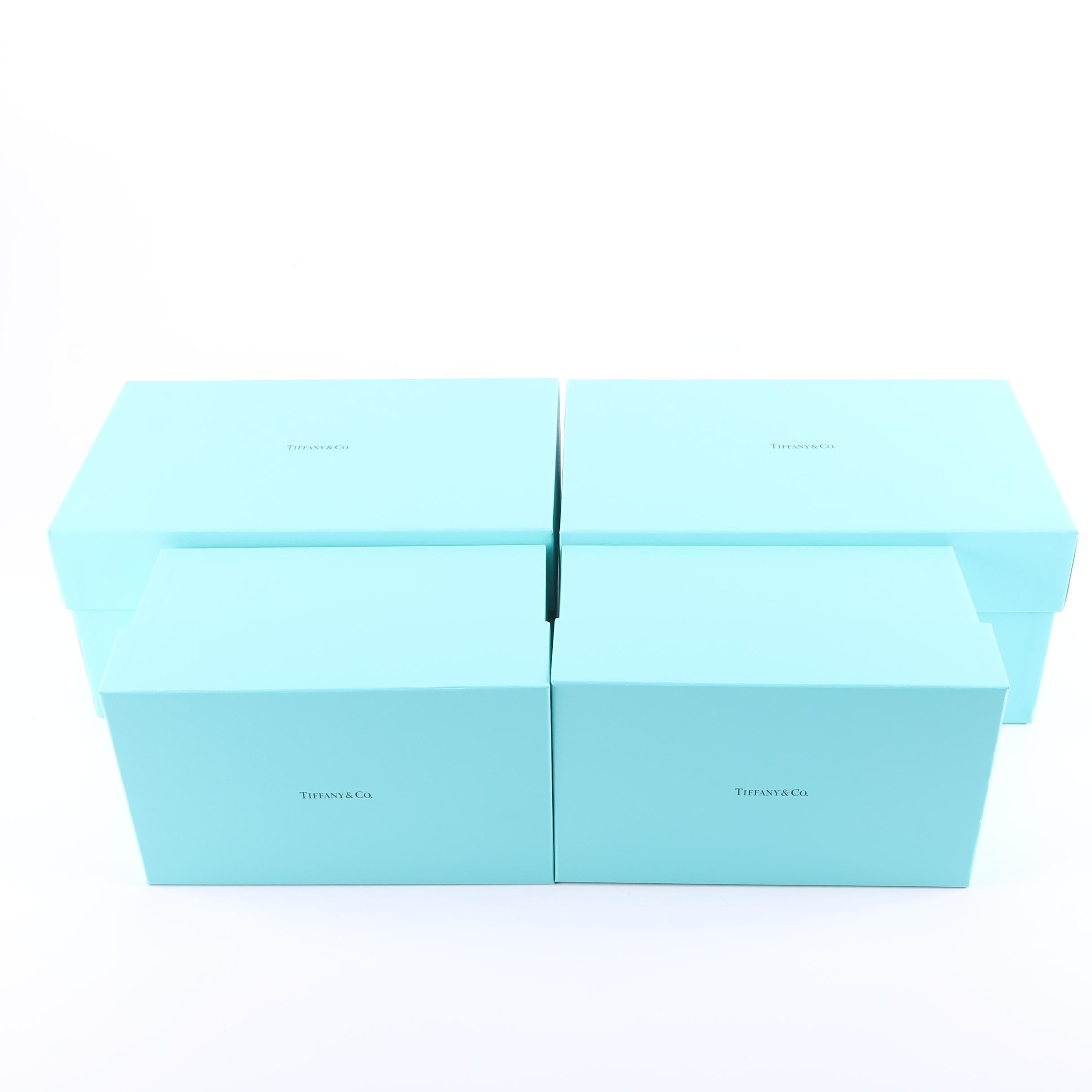 Lot of 4 Tiffany & Co. Blue Boxes