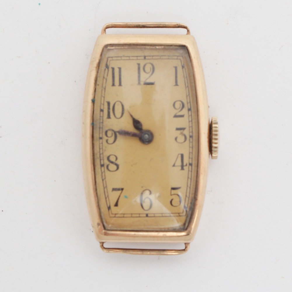 14K Yellow Gold Busga Wristwatch