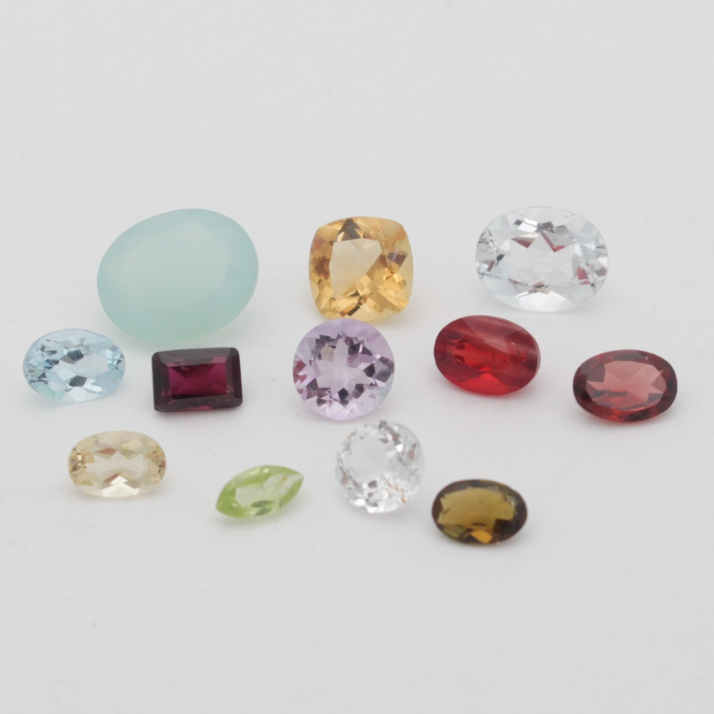 Eclectic Mixed Loose Gemstone Collection