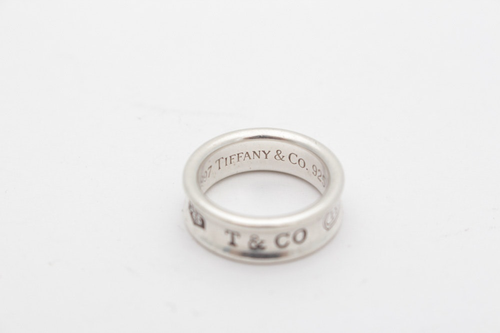 Tiffany & Co. Sterling Silver 1837 Collection Ring