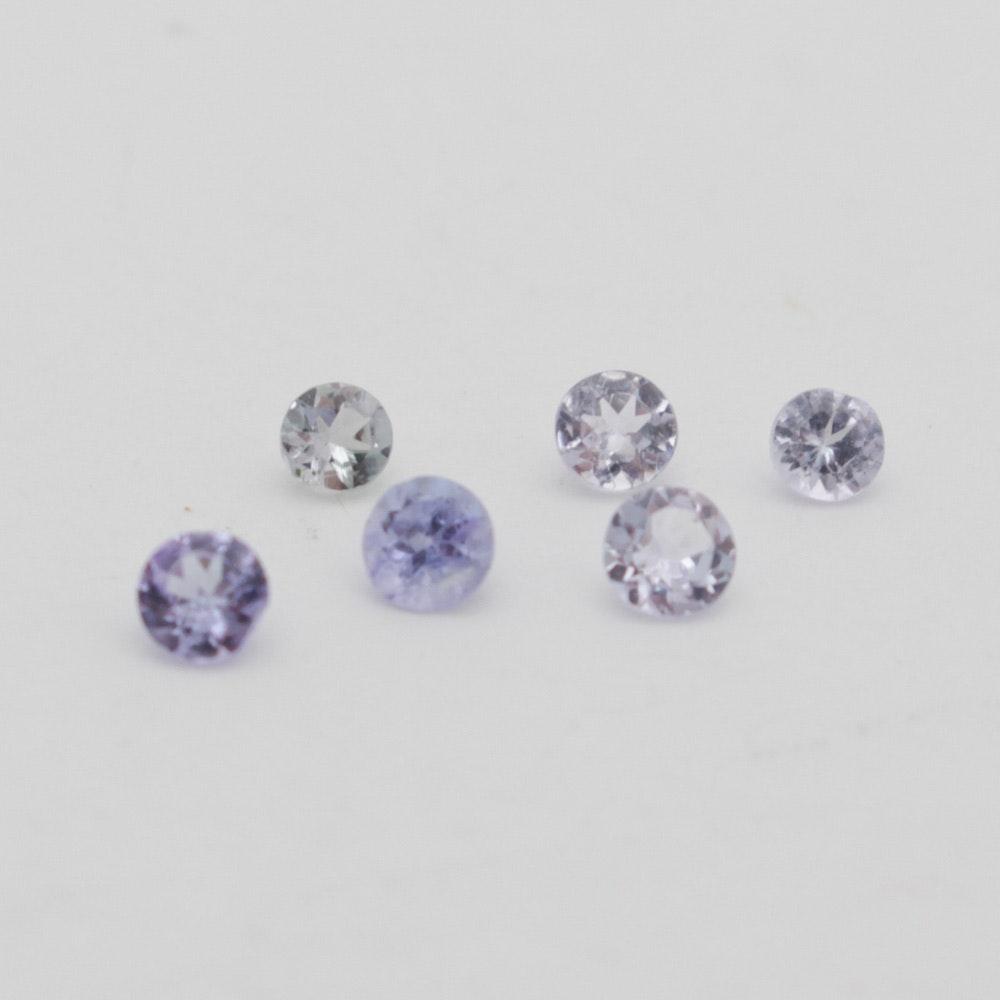 Loose Round Tanzanite Gemstones