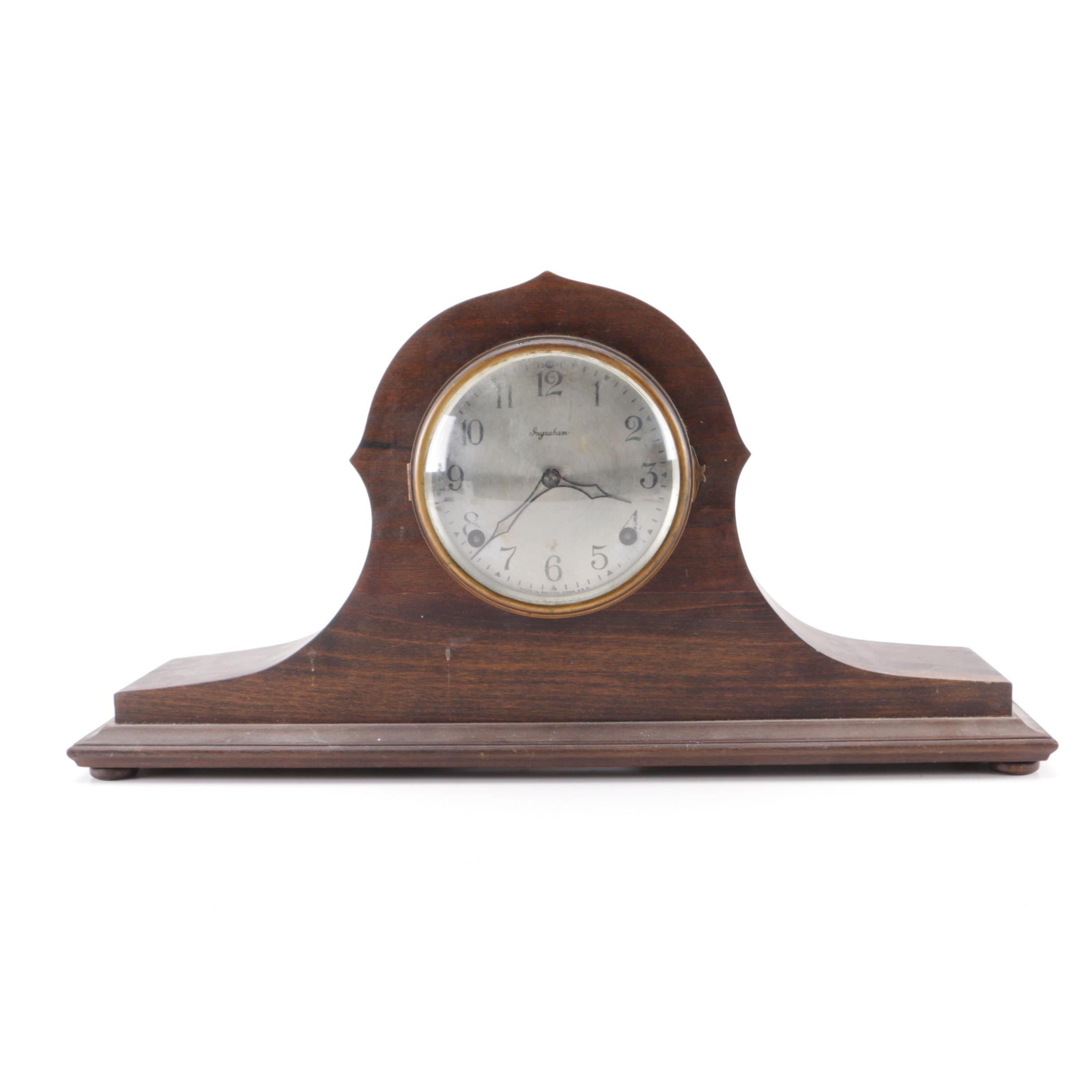 """""""Canto"""" Wooden Mantle Clock by Ingraham"""