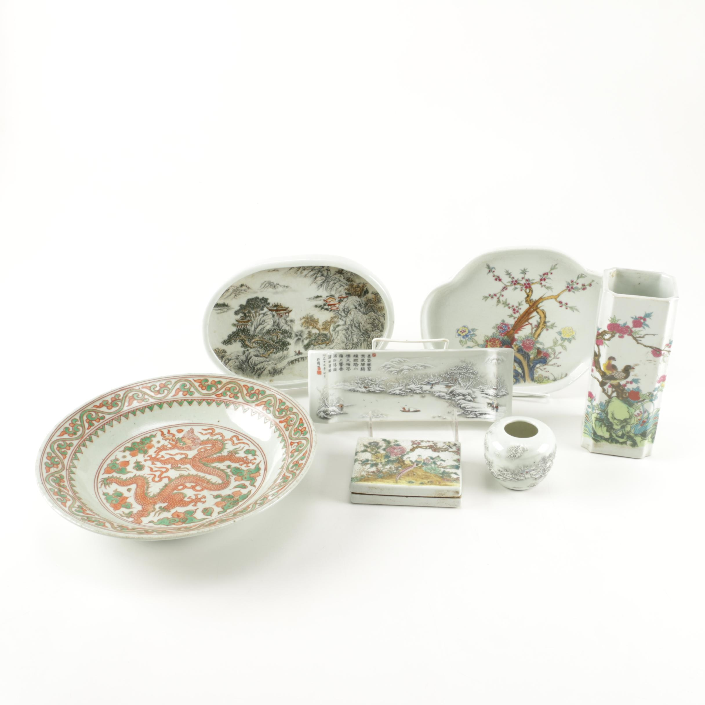 East Asian Ceramic Tableware Assortment