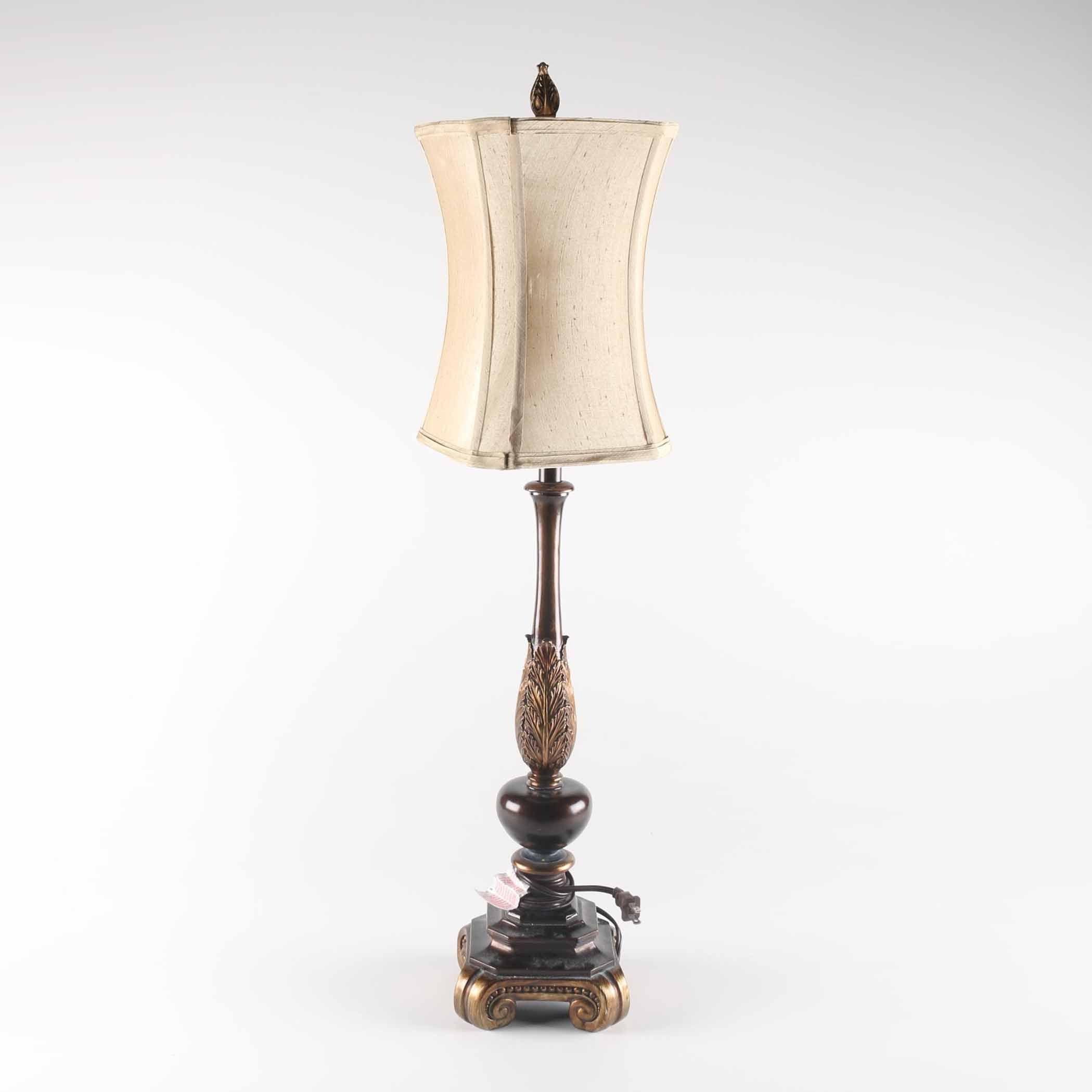 Brown Leaf Table Lamp