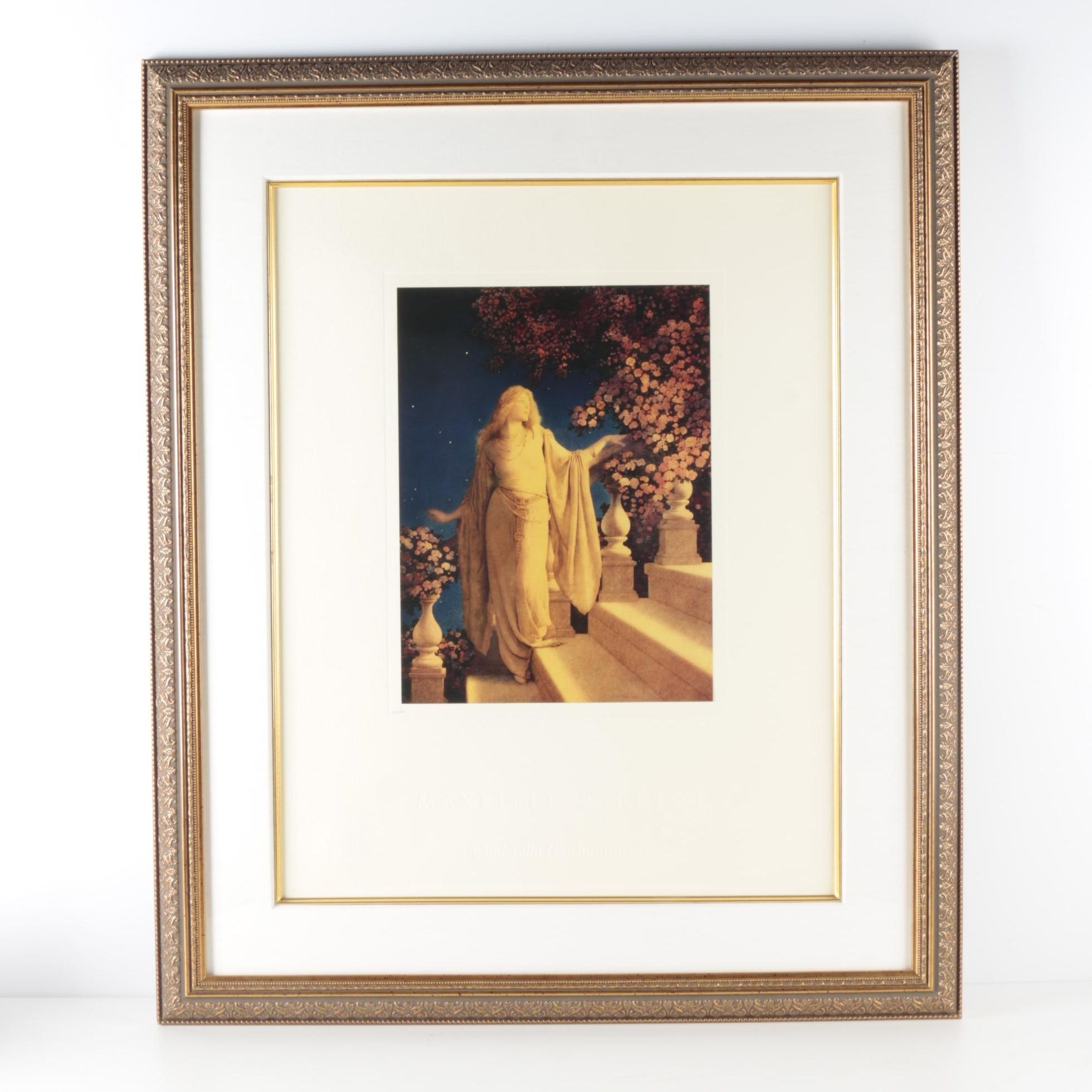 """Limited Edition Offset Lithograph After Maxwell Parrish """"Cinderella (Enchantment)"""""""