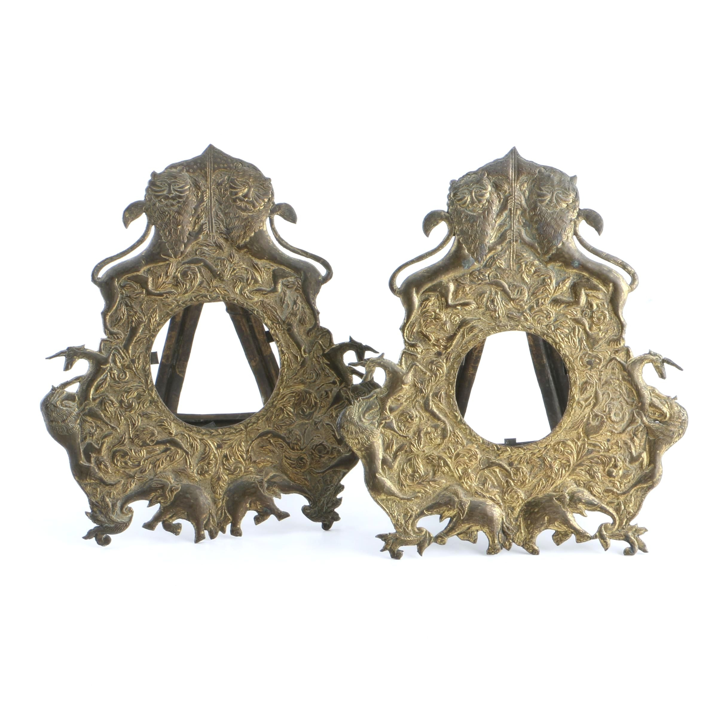 Asian Inspired Brass Picture Frames