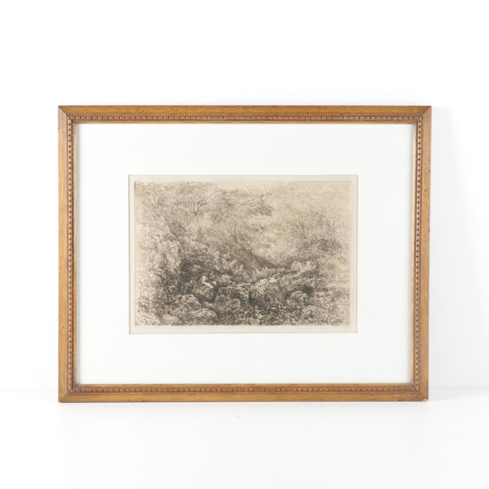 F. Deb. Richards Etching on Paper of Landscape