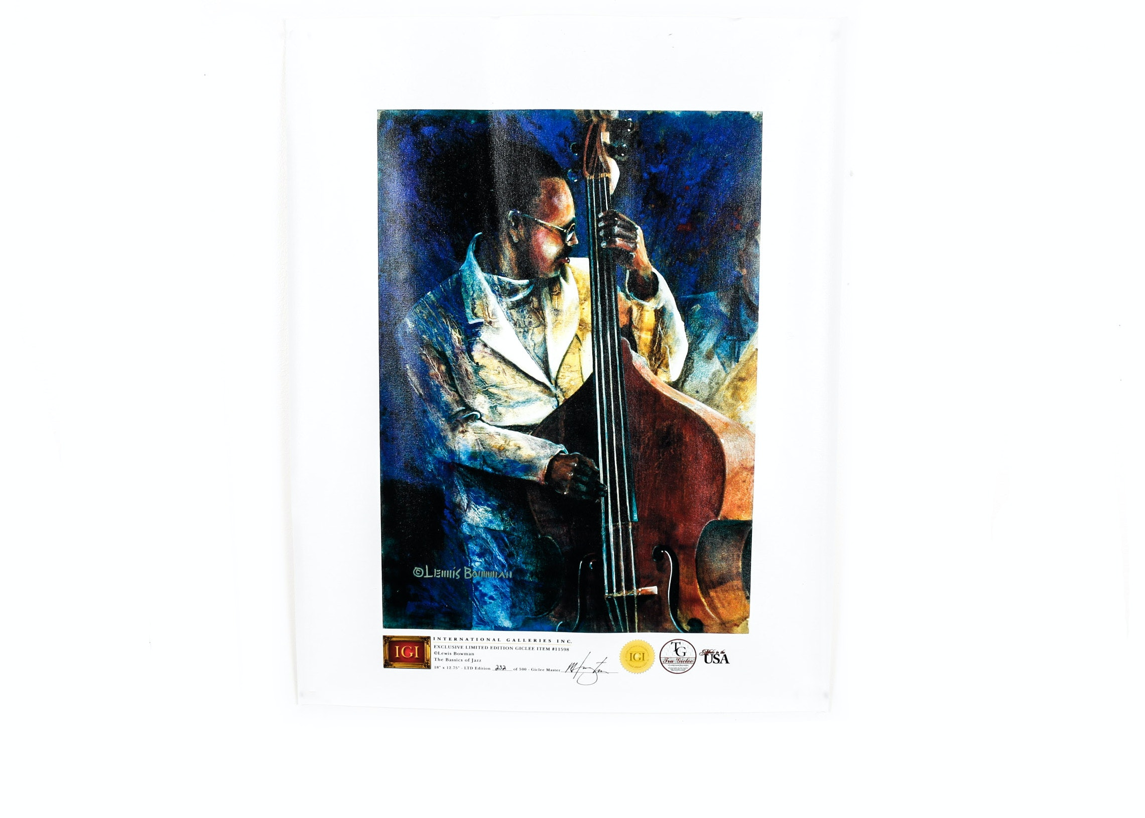 "Unframed ""The Bassics of Jazz"" Giclee"