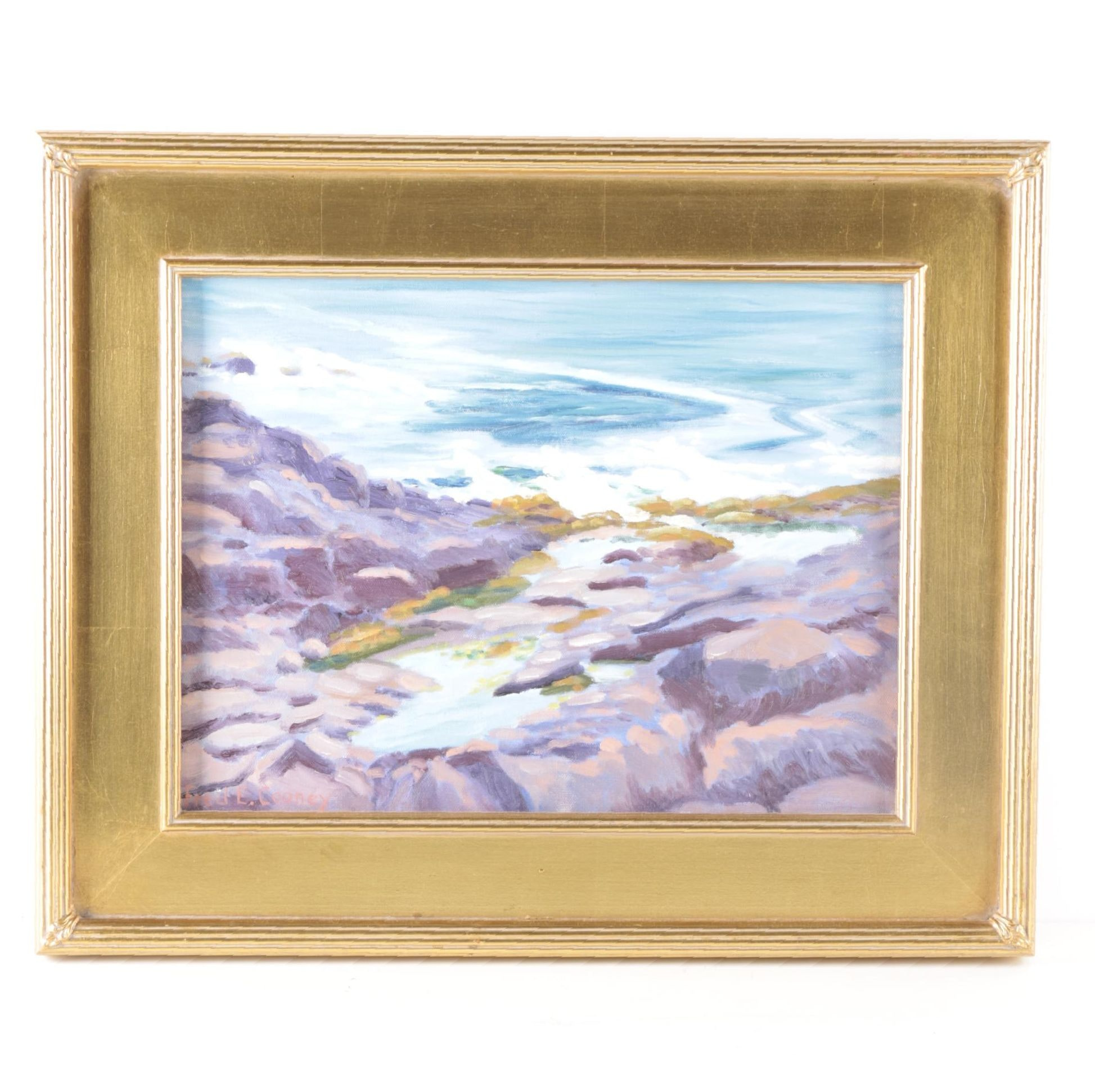 Fred E. Cooney Oil Painting of Oceanscape