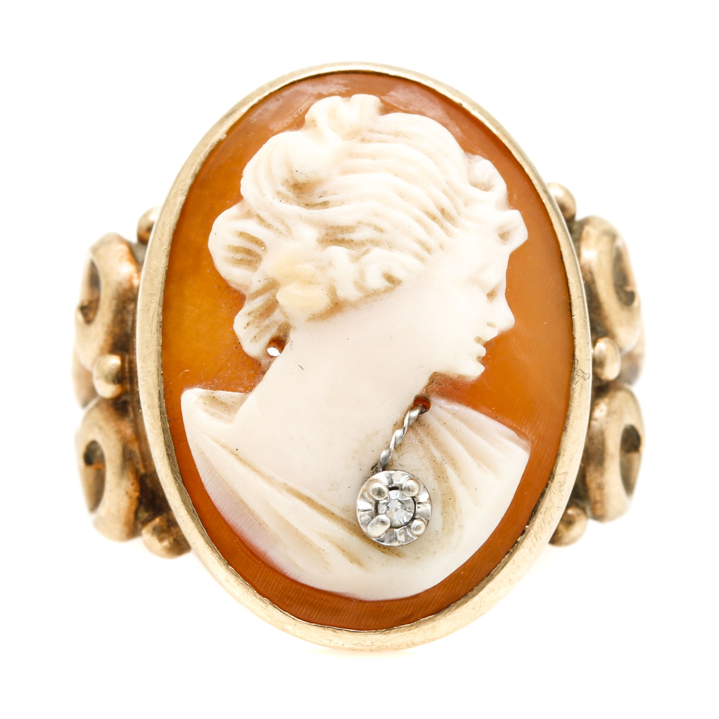 10K Yellow Gold Cameo Habille Ring