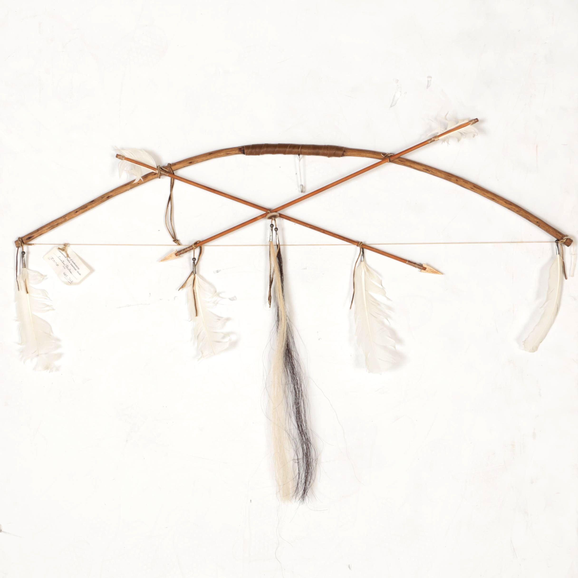 Curtis Bitsui Navajo Bow and Arrow Decor