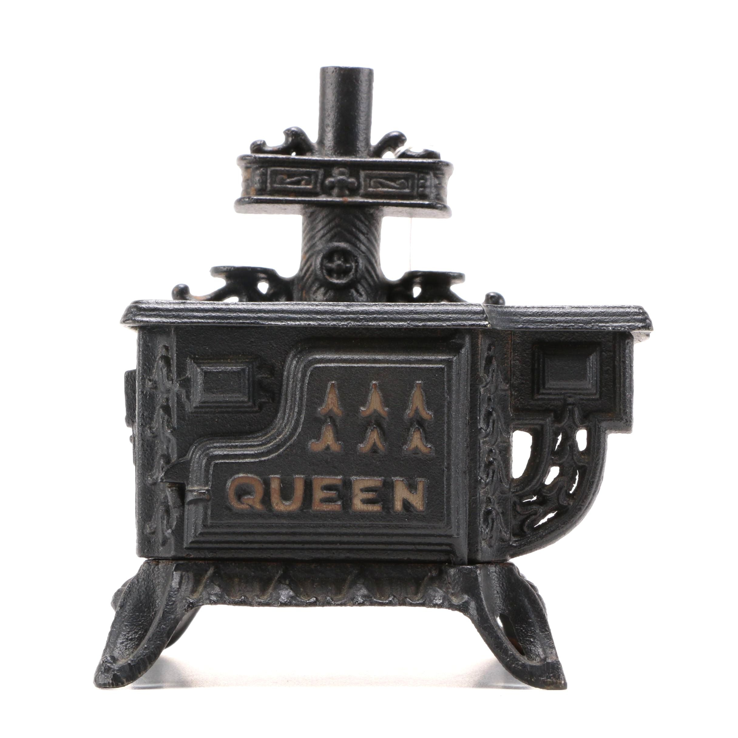 Queen Cast Iron Miniature Stove Bank