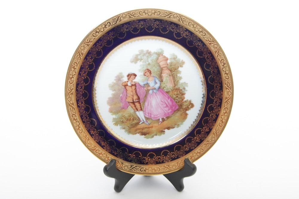Limoges Fragonard Porcelain Plate