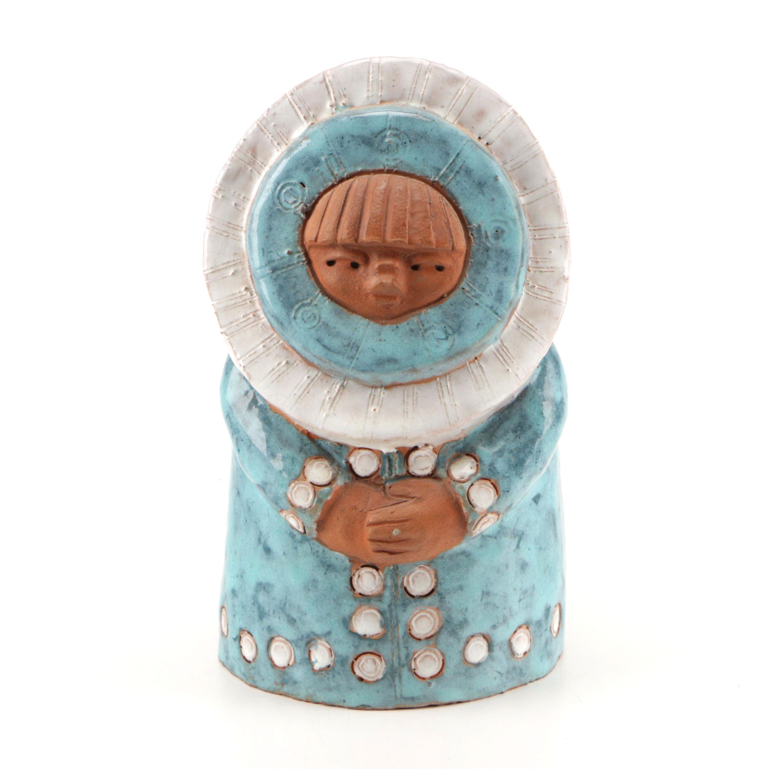 Ceramic Figure of Girl in Blue