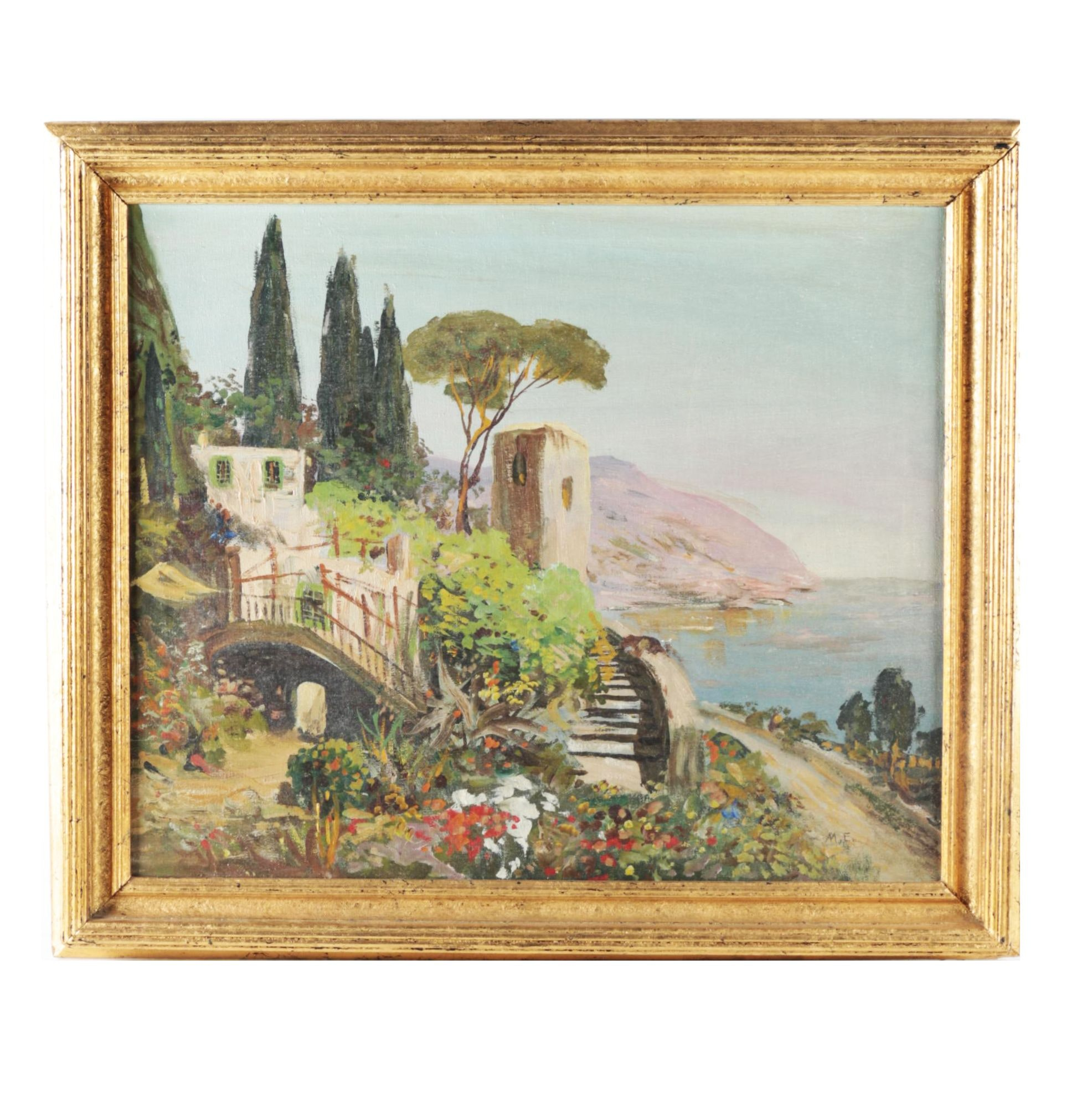 Oil on Canvas Landscape of Southern Italy