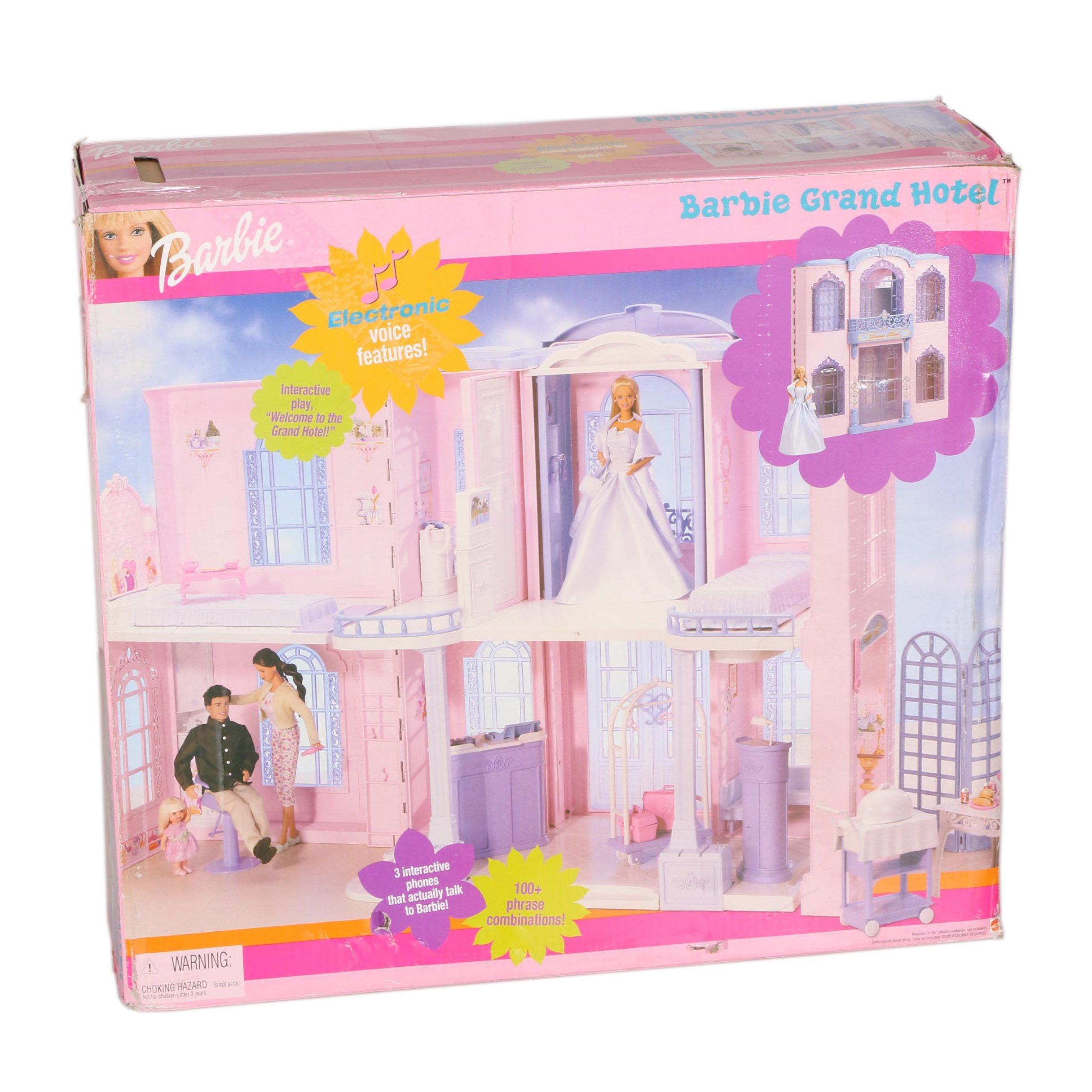 Barbie Grand Hotel Doll House With Six Dolls Ebth