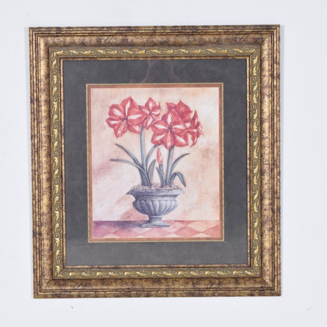 Offset Lithograph of a Floral Still Life