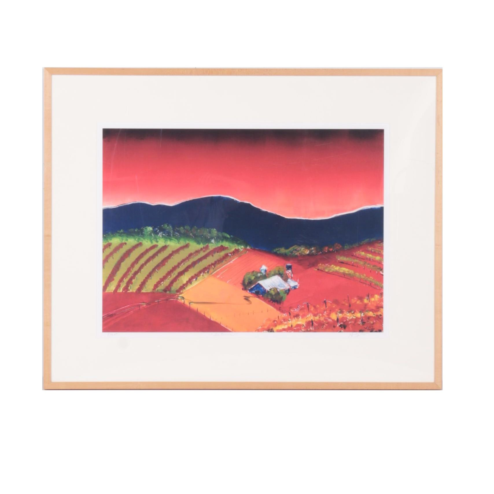 """Judy Theo 2002 Limited Edition Giclée Print on Paper """"Autumn"""""""
