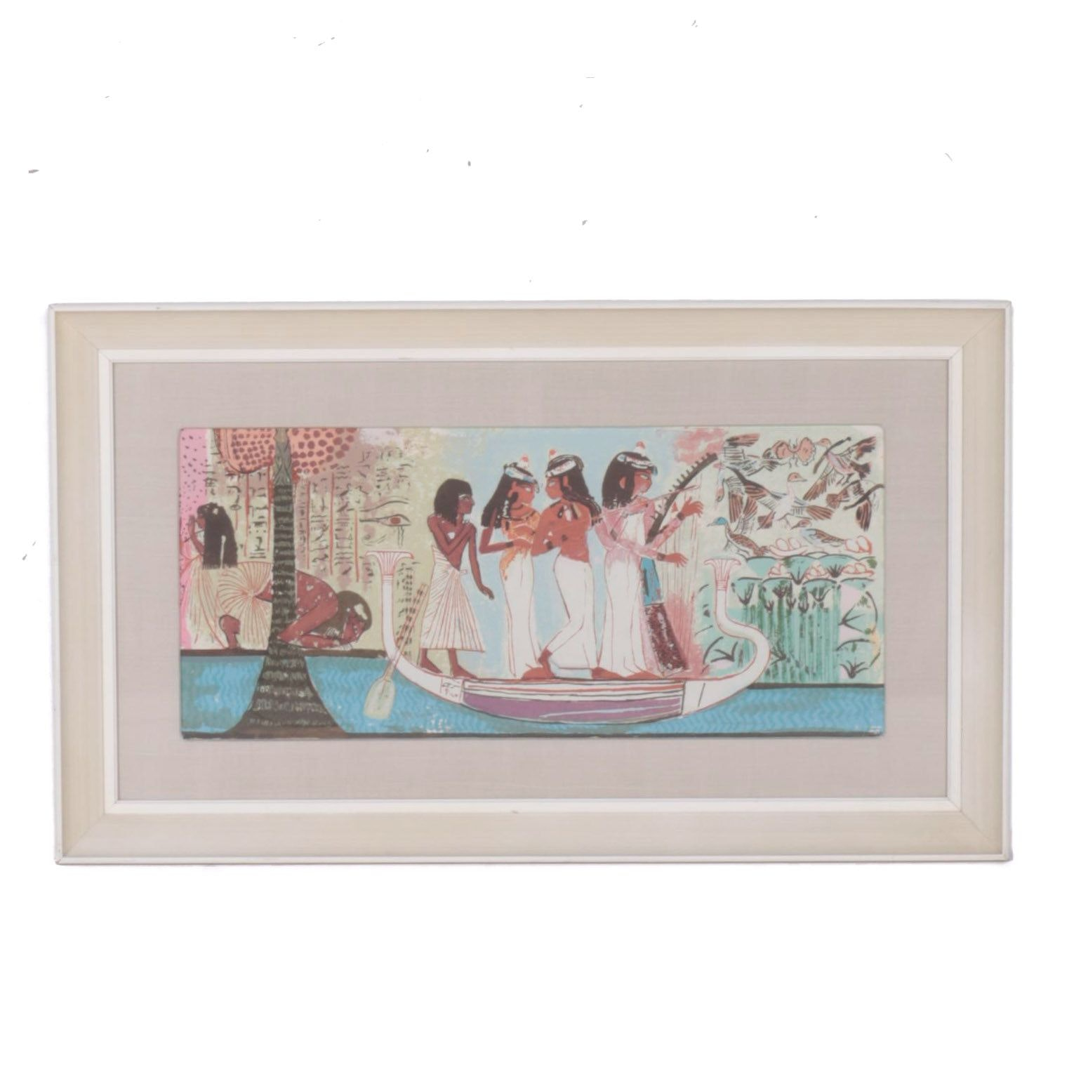 Serigraph on Paper of Ancient Egyptian Scene