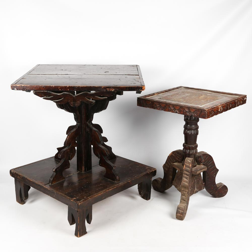 Vintage Handcrafted Accent Tables