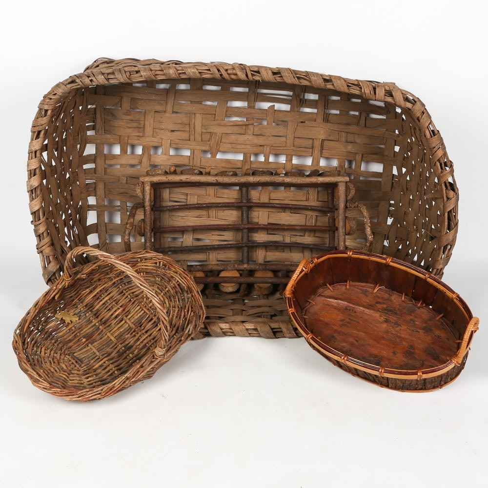 Collection of Baskets Including Vintage