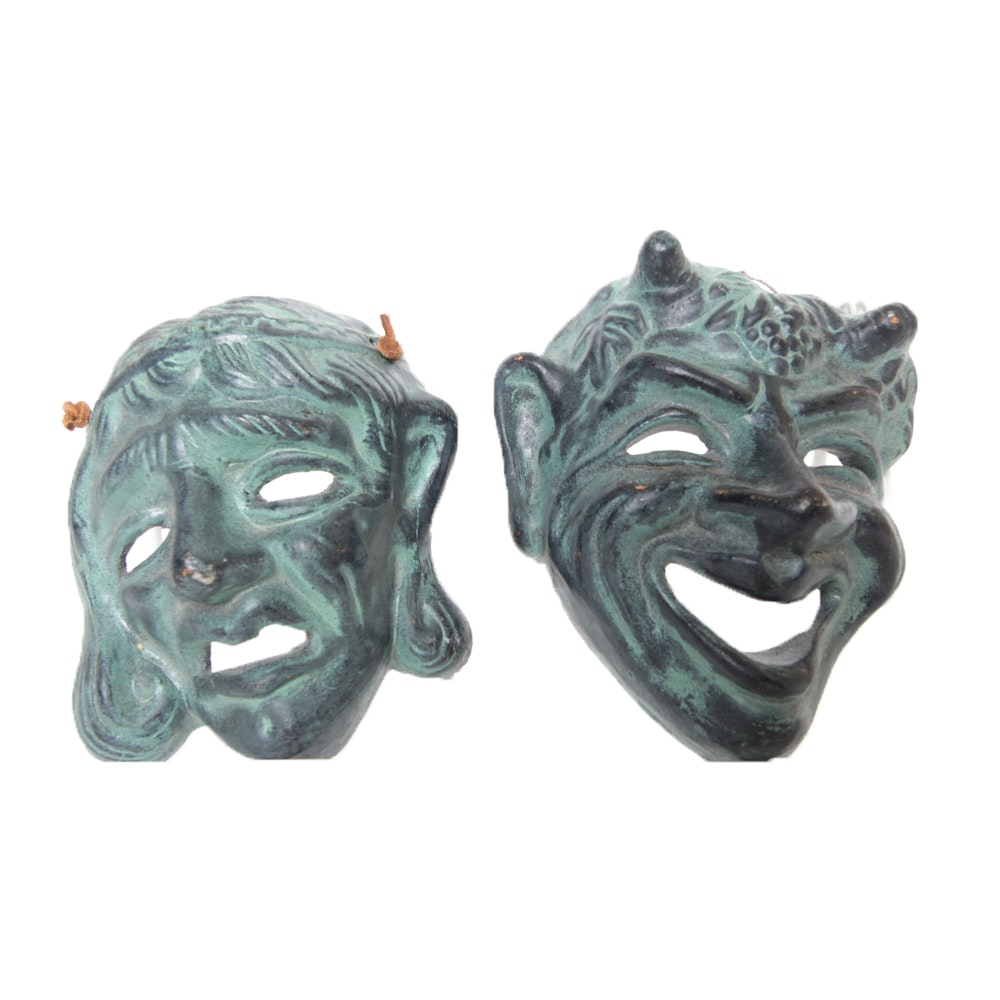 Set of Greek Comedy and Tragedy Masks