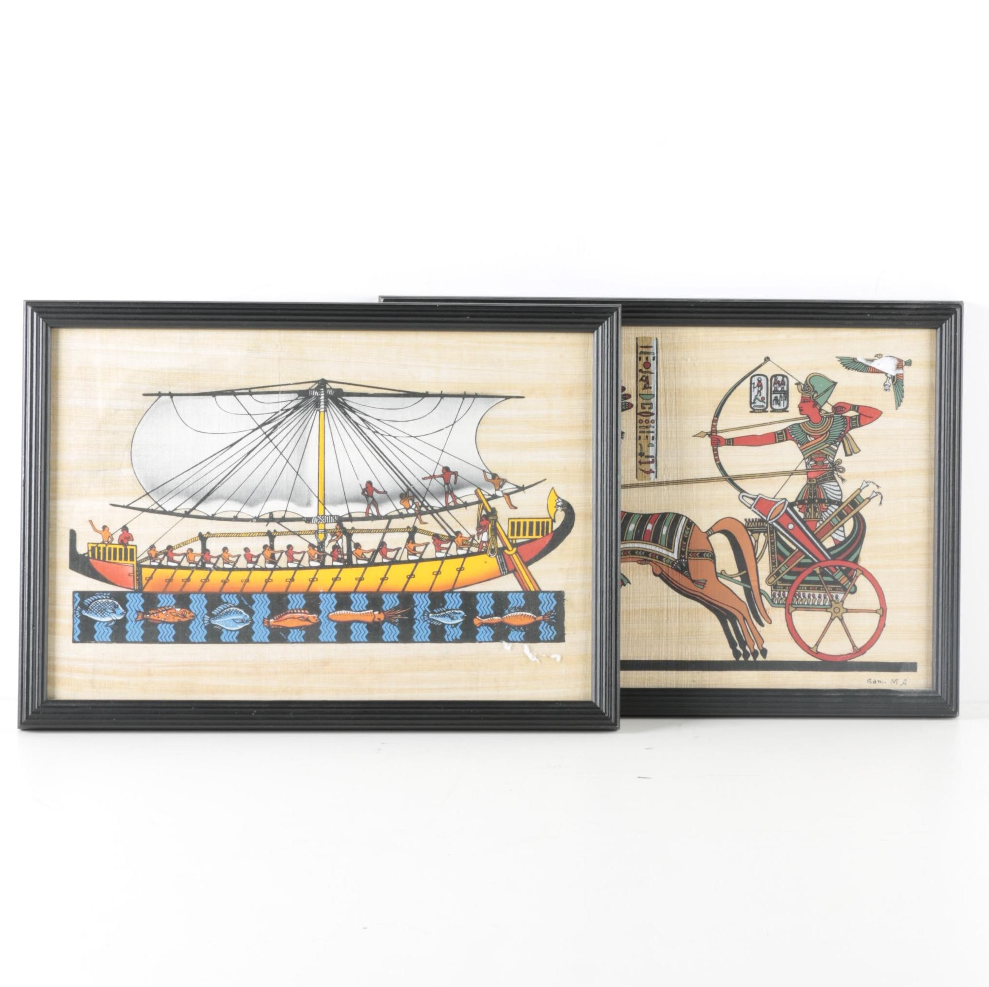 Serigraphs on Papyrus of Ancient Egyptian Subjects