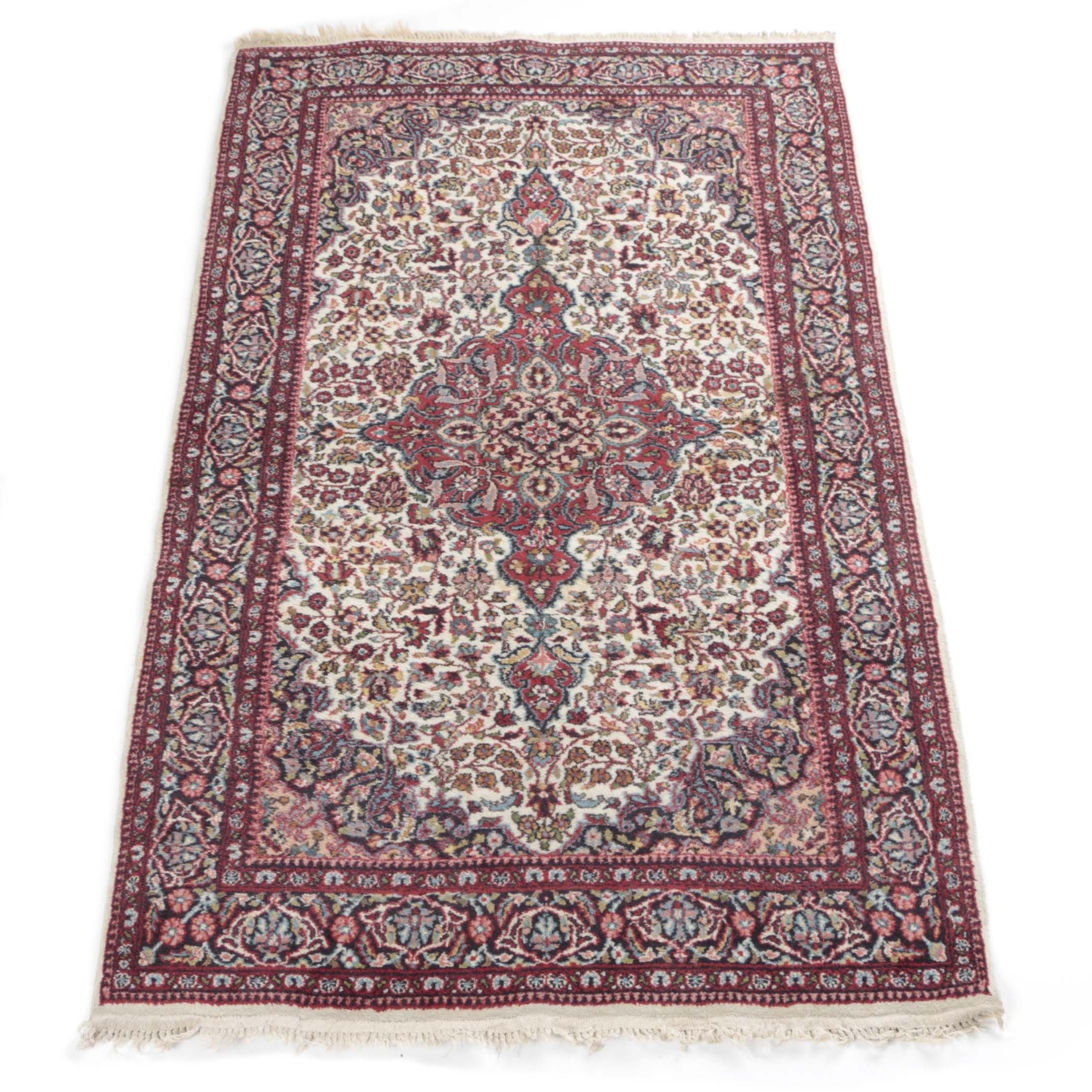 Hand-Knotted Indo-Tabriz Wool Area Rug