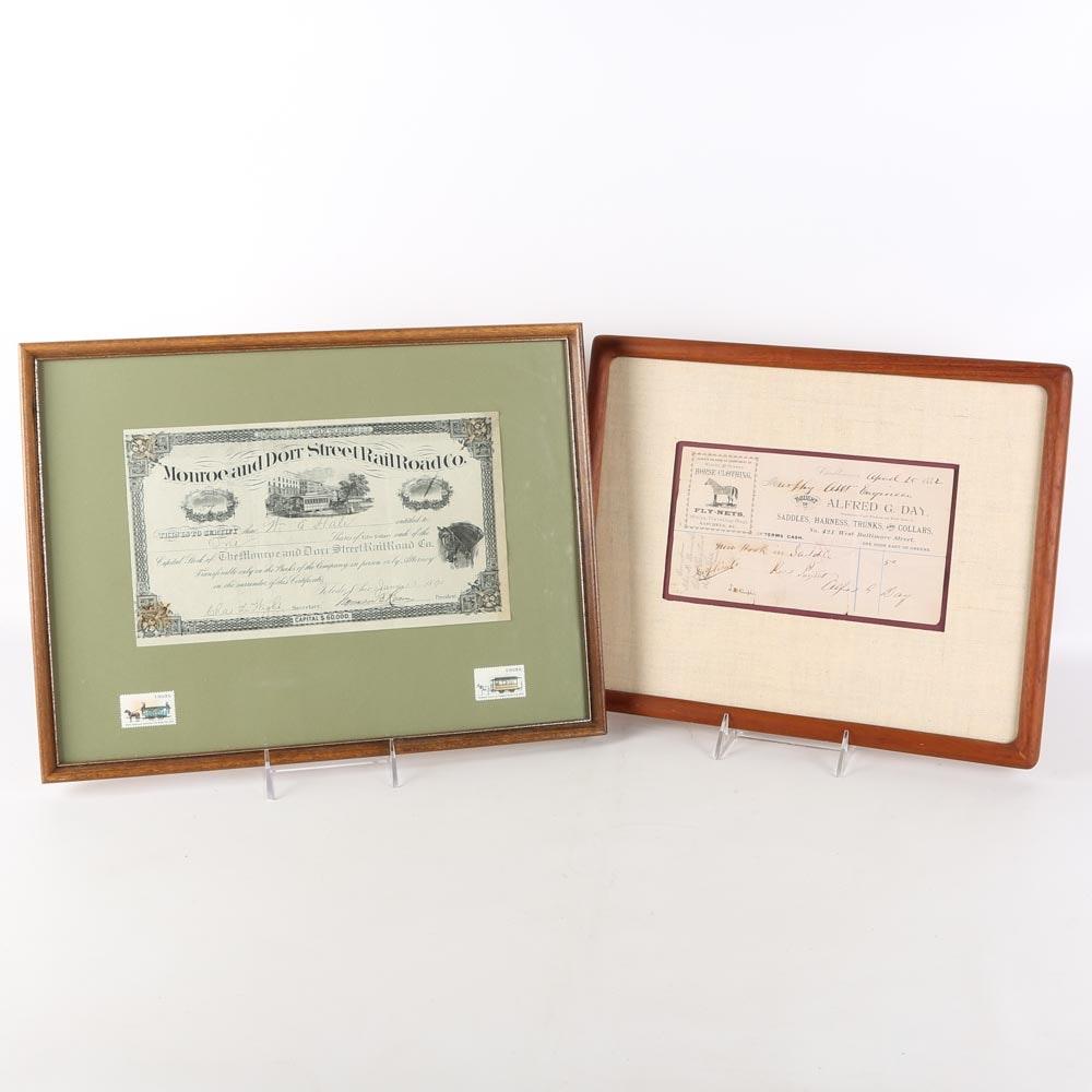 Antique Financial Documents