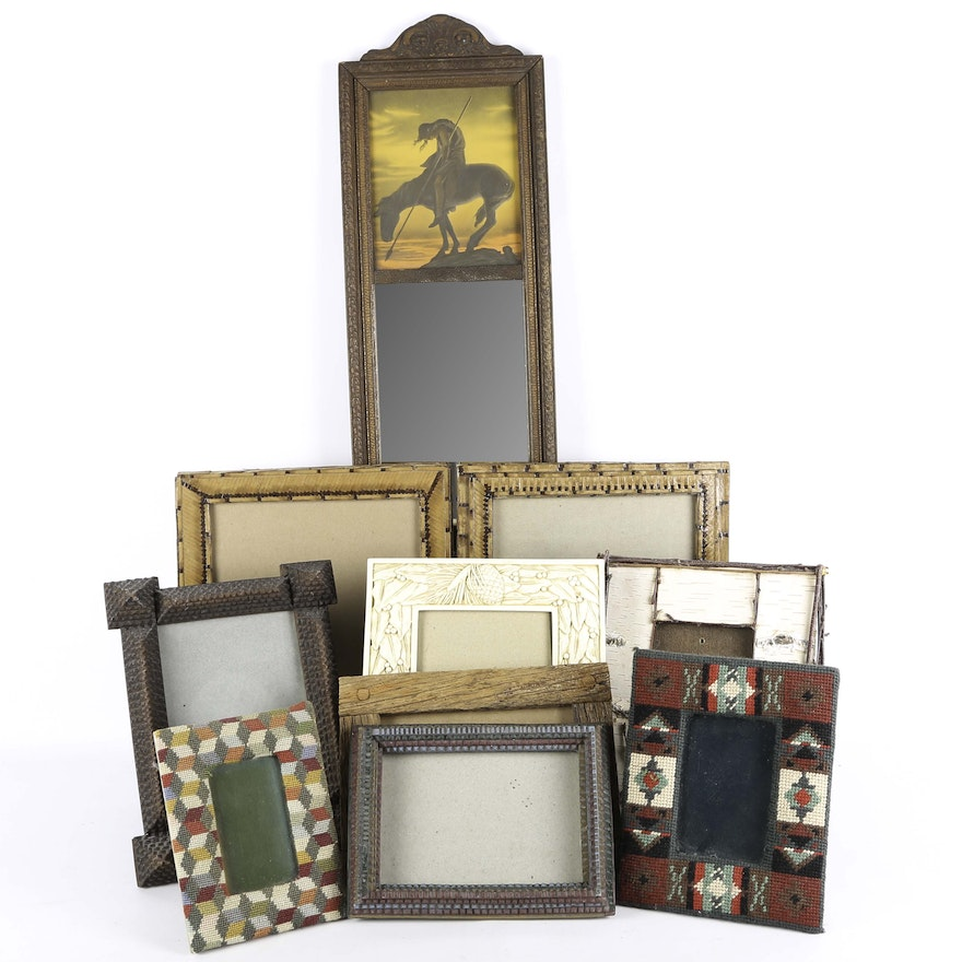 186d9832aaa2 Assortment of Lodge Style Picture Frames   EBTH