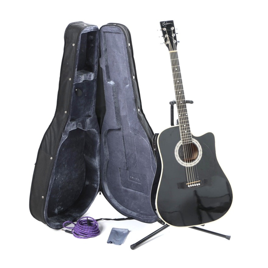 Esteban American Legacy Midnight Steel Limited Edition Acoustic Electric