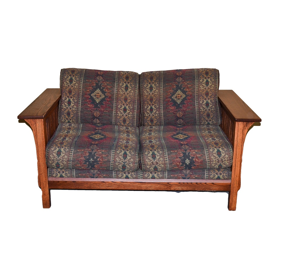Arts and Crafts Style Love Seat Couch