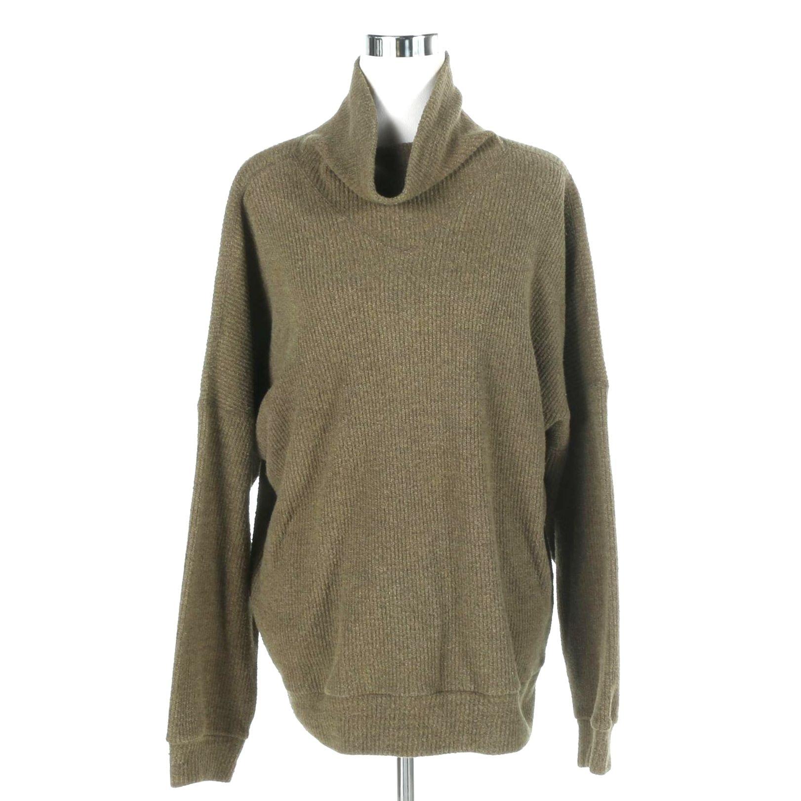 Issey Miyake Plantation Women's Small Cowl Neck Sweater