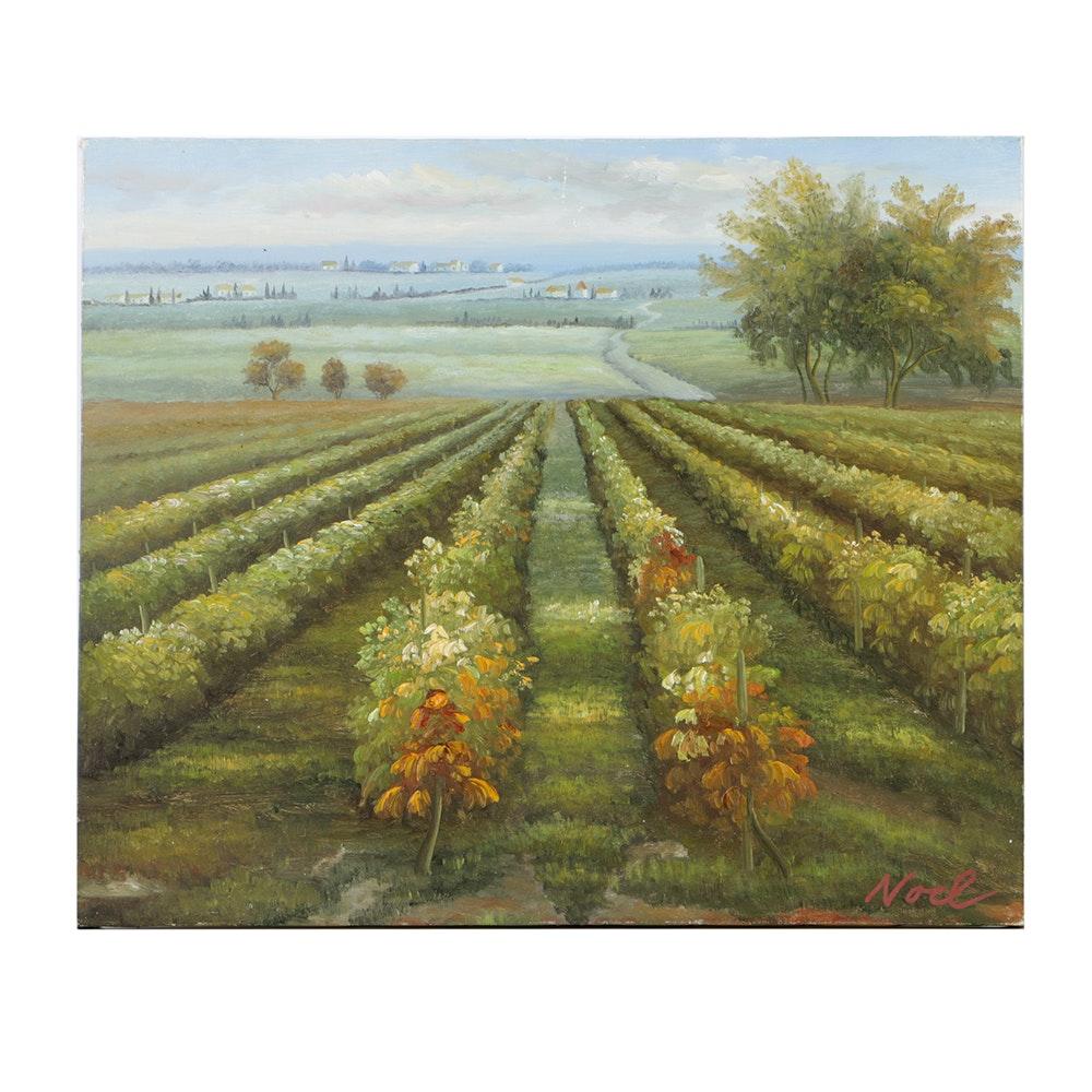 Nancy Noel Hand Embellished Giclee Print on Canvas Landscape