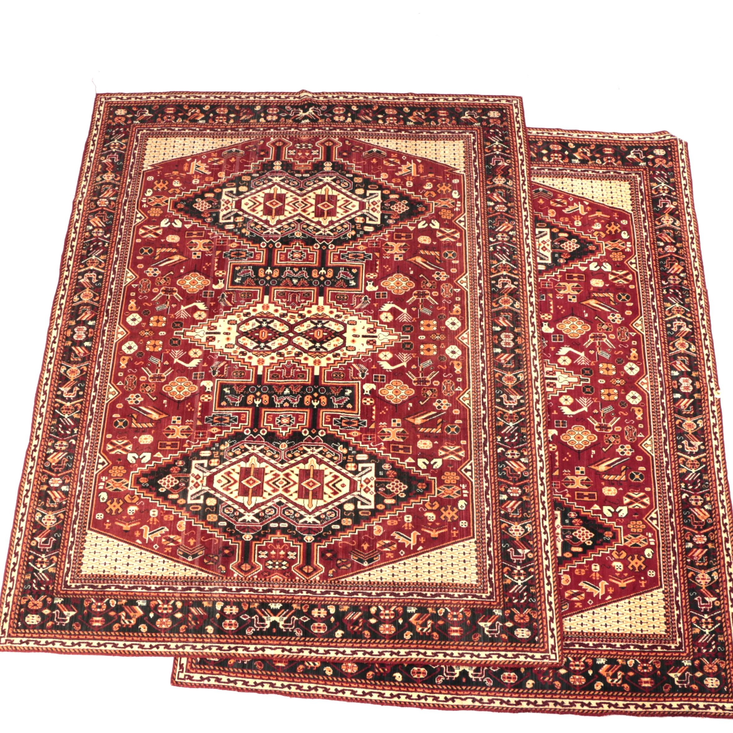 Power-Loomed Persian Tribal-Style Area Rugs