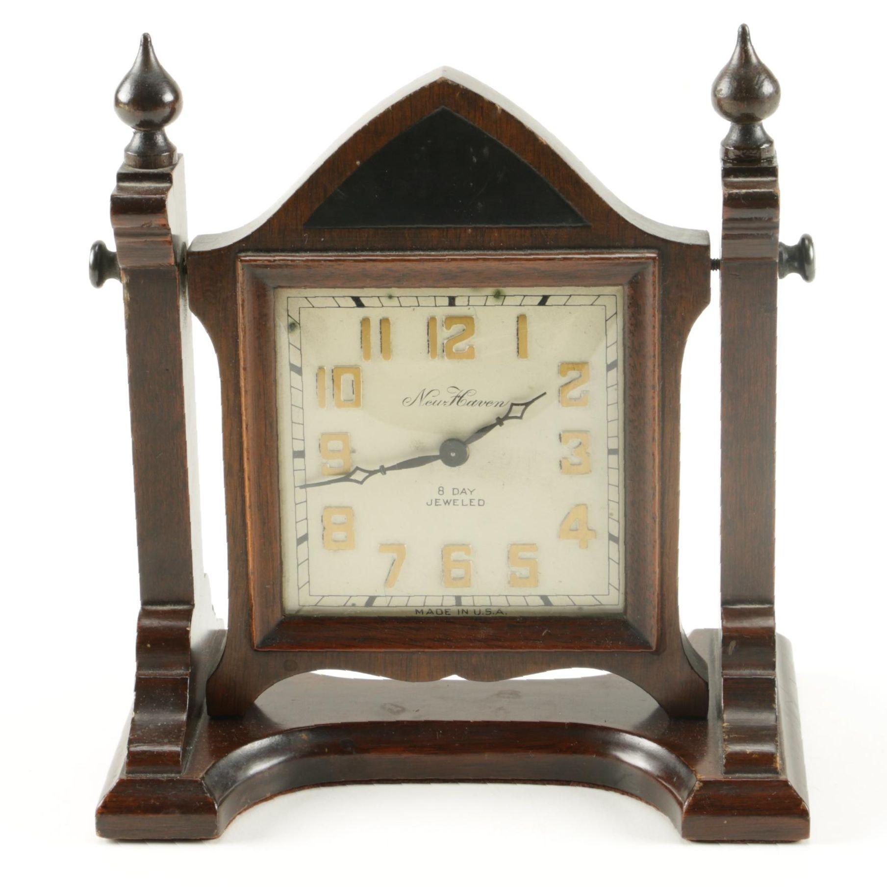 New Haven Jeweled Mantel Clock