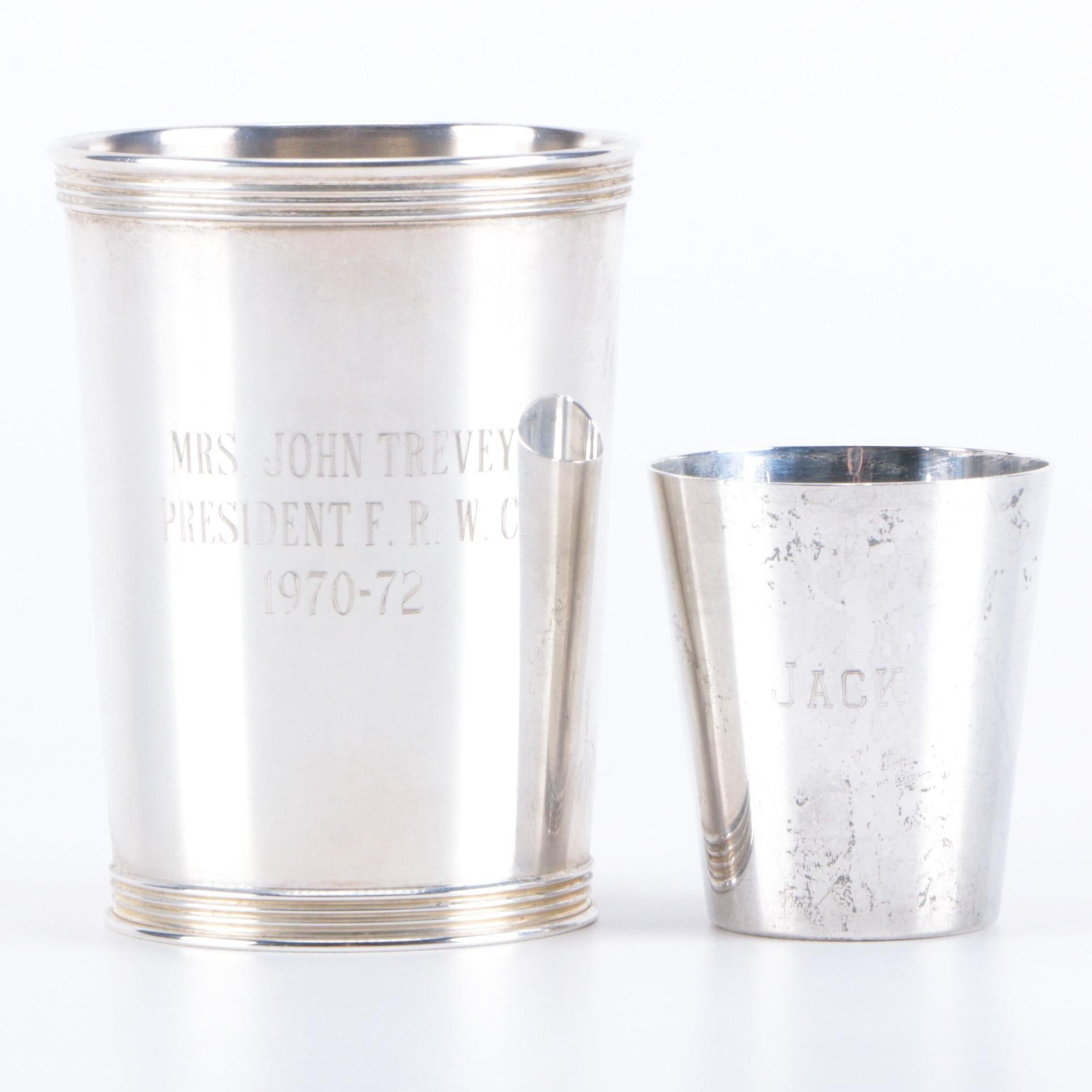 Sterling Silver Julep Cup with Shot Glass
