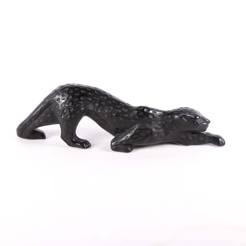 "Lalique Crystal Black ""Zeila"" Panther"