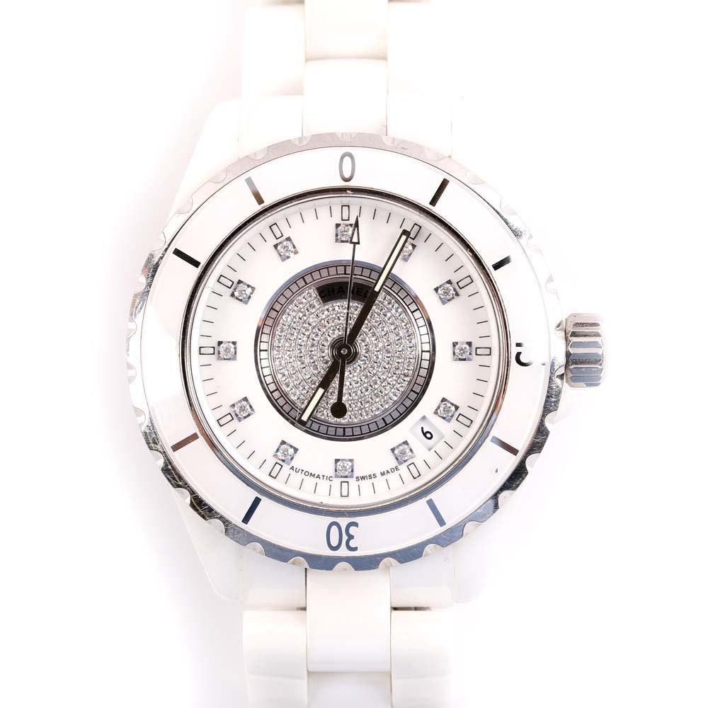 Chanel Ceramic J12 Watch with Diamonds