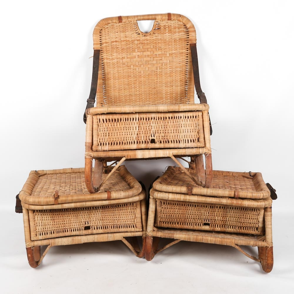 Vintage Wicker Camp Chairs