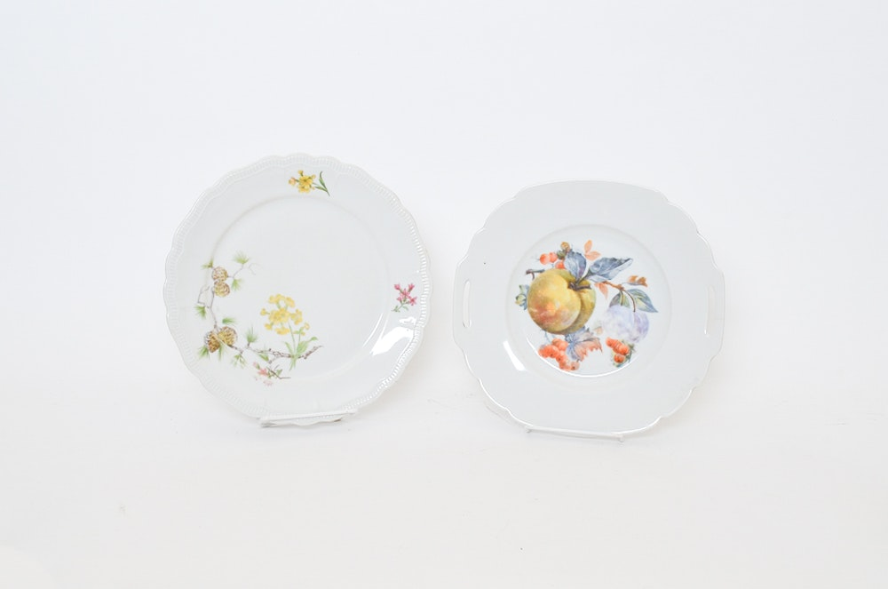 Set of Decorative Plates from Europe including PMR Bavaria Jaeger & Co