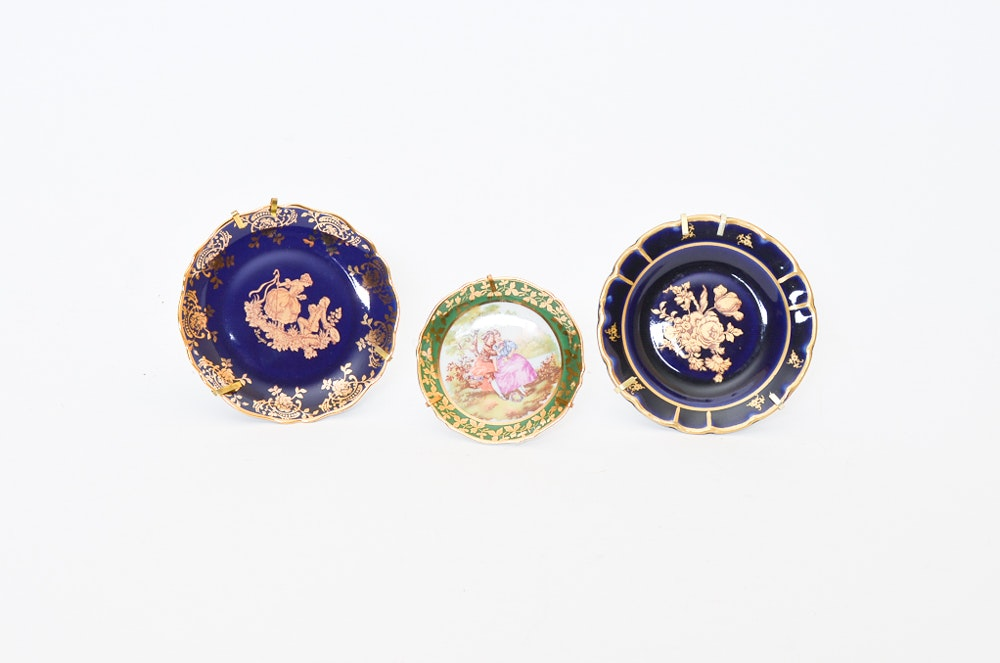 Collection of Three Limoges Decorative Plates