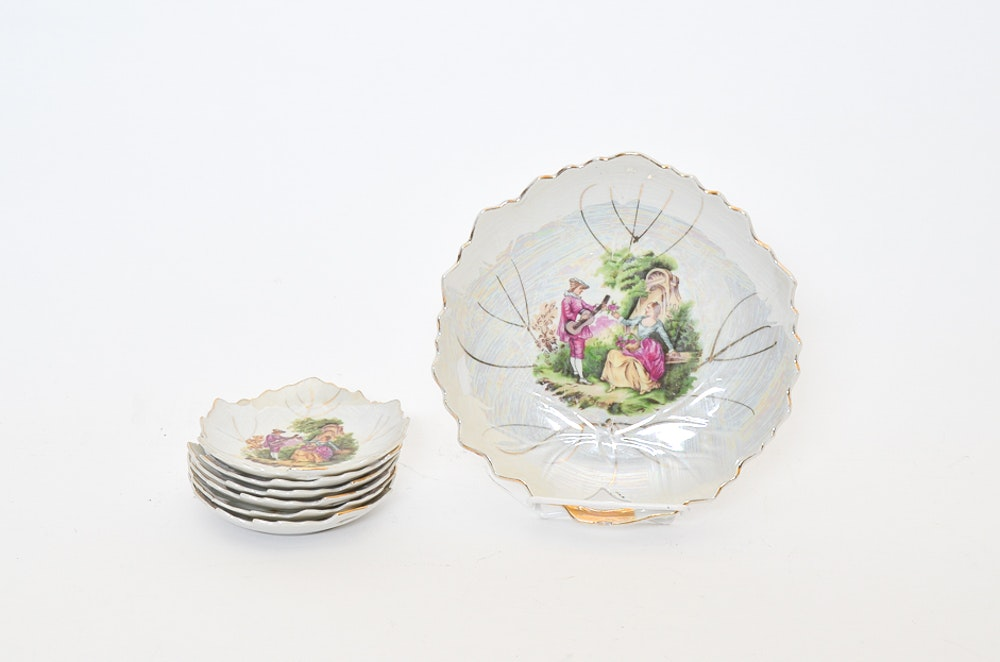 Fine Porcelain Plate Set