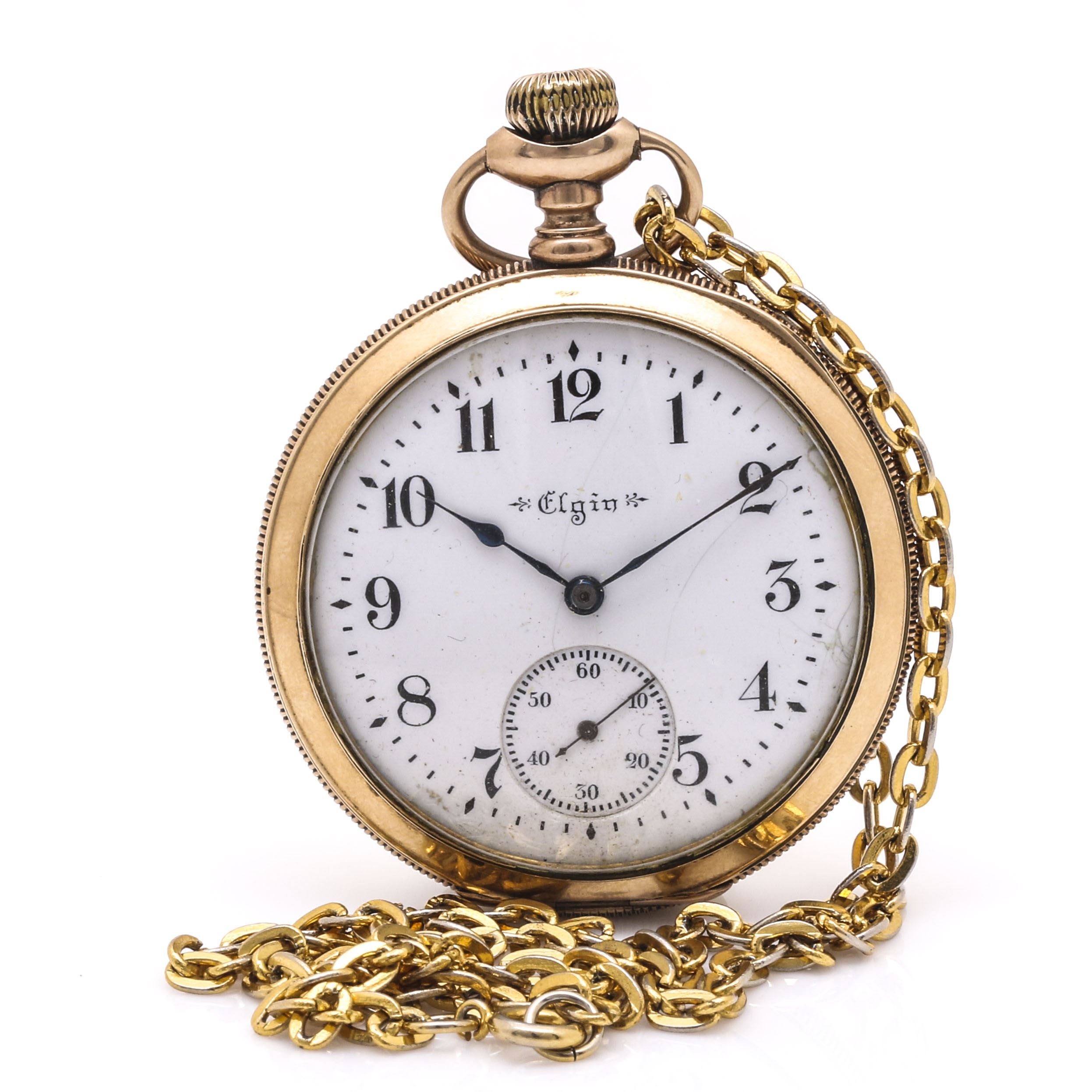 Eglin Gold Filled Personalized Pocket Watch