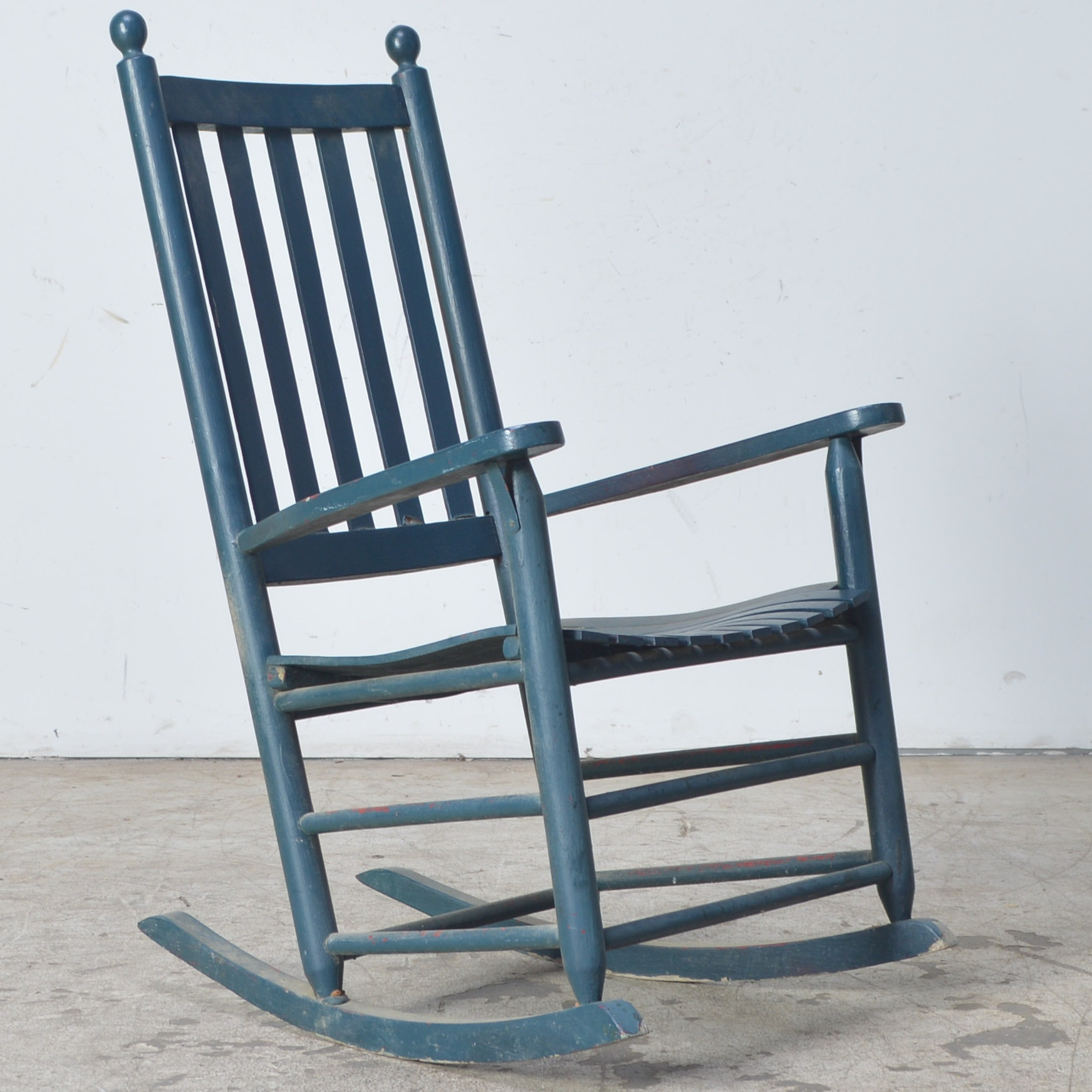 Painted Slat Back Rocking Chair