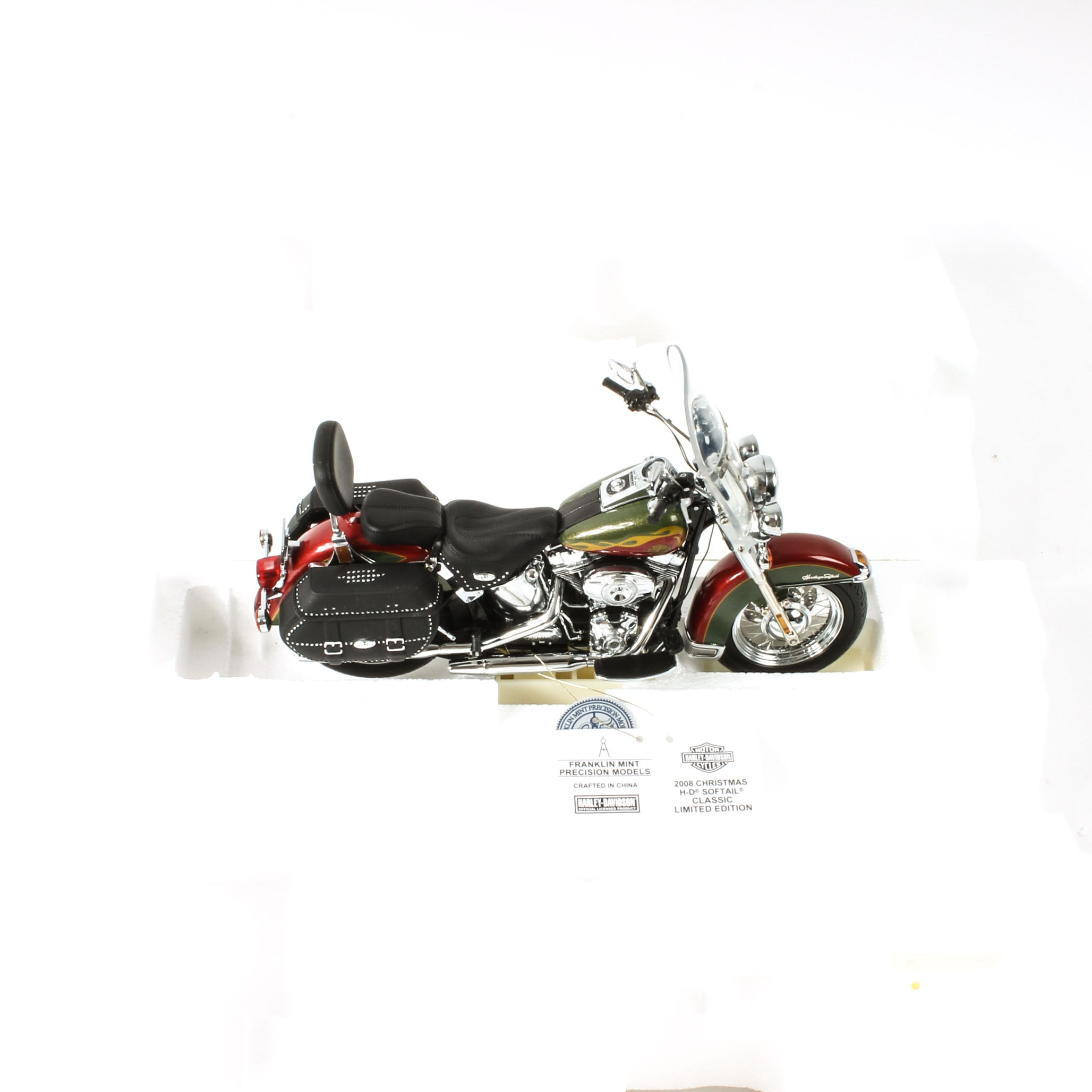Franklin Mint Harley-Davidson Christmas Edition Model Motorcycle