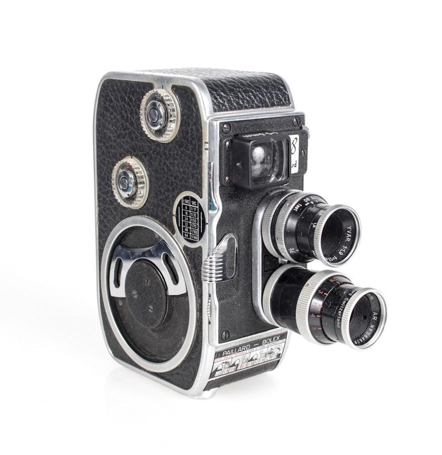 1957 vintage paillard bolex b8 8mm movie camera ebth. Black Bedroom Furniture Sets. Home Design Ideas